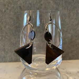 Earrings- Wood & Metal